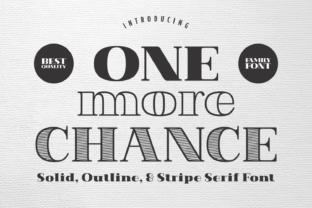 Print on Demand: One More Chance Serif Font By Jasm (7NTypes)