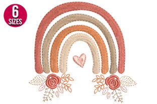 Print on Demand: Rainbow Floral & Garden Embroidery Design By Nations Embroidery