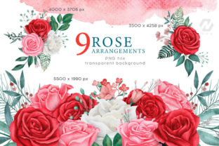Rose Flower Watercolor Arts Collection - 3