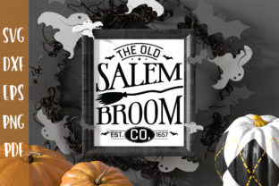 The Old Salem Broom Co - Halloween SVG Graphic Crafts By CraftlabSVG