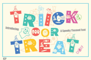 Print on Demand: Trick or Treat Decorative Font By KtwoP