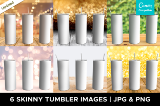 Print on Demand: Tumbler Mockup | 6 Images Graphic Product Mockups By Pixtordesigns