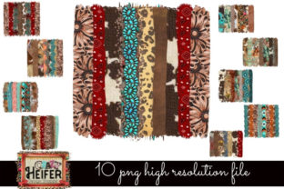 Print on Demand: Western Brush Stroke Dye Sub Design PNG Graphic Backgrounds By Crazy Heifer Design Shoppe