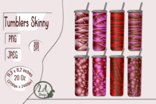 Print on Demand: 8 Skinny Tumblers Red Gradient Graphic Crafts By LilianaArt