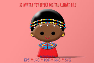 Print on Demand: African Kenya Girl Graphic 3D SVG By Clipart Superstore