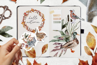 Autumn Forest Animals Watercolor PNG - 3