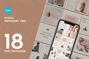 Beauty Fashion Puzzle Instagram   CANVA Graphic Web Elements By qohhaarqhaz