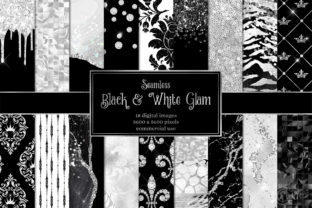 Print on Demand: Black and White Glam Digital Paper Graphic Textures By Digital Curio