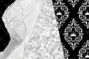 Print on Demand: Black and White Glam Digital Paper Graphic Textures By Digital Curio 2