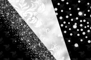 Print on Demand: Black and White Glam Digital Paper Graphic Textures By Digital Curio 3