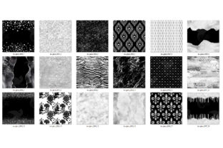 Print on Demand: Black and White Glam Digital Paper Graphic Textures By Digital Curio 4