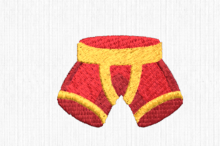 Boxers Clothing Embroidery Design By Scrappy Remnants