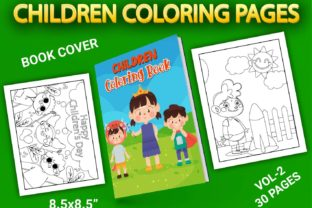 Print on Demand: Children Coloring Pages with Book Cover Graphic Coloring Pages & Books Kids By Simran Store