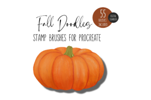 Fall Stamp Brushes for Procreate Graphic Brushes By designavmad
