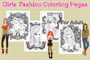 Girls Fashion Coloring Pages for Adult Graphic Coloring Pages & Books Adults By Artist Zone