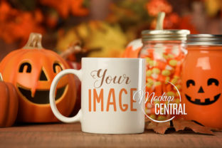 Halloween Fall Coffee Glass Cup Mockup Graphic Product Mockups By Mockup Central