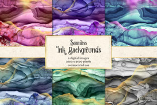Print on Demand: Seamless Ink Backgrounds Graphic Textures By Digital Curio