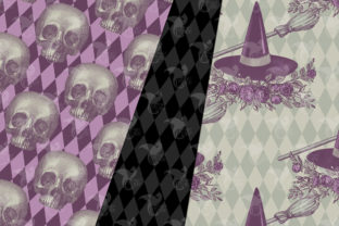 Print on Demand: Spider Witch Digital Paper Graphic Patterns By Digital Curio 2