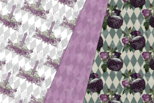 Print on Demand: Spider Witch Digital Paper Graphic Patterns By Digital Curio 3