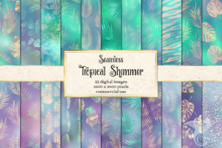 Print on Demand: Tropical Shimmer Digital Paper Graphic Textures By Digital Curio