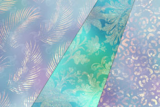 Print on Demand: Tropical Shimmer Digital Paper Graphic Textures By Digital Curio 2