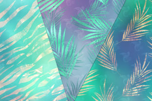 Print on Demand: Tropical Shimmer Digital Paper Graphic Textures By Digital Curio 3