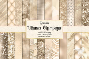 Print on Demand: Ultimate Champagne Textures Graphic Textures By Digital Curio