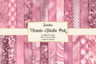 Print on Demand: Ultimate Metallic Pink Textures Graphic Textures By Digital Curio