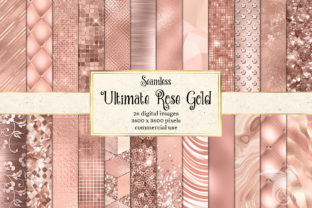 Print on Demand: Ultimate Rose Gold Textures Graphic Textures By Digital Curio