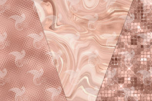 Print on Demand: Ultimate Rose Gold Textures Graphic Textures By Digital Curio 3
