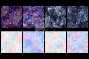 Print on Demand: Watercolor Zodiac Digital Paper Graphic Textures By Digital Curio 4