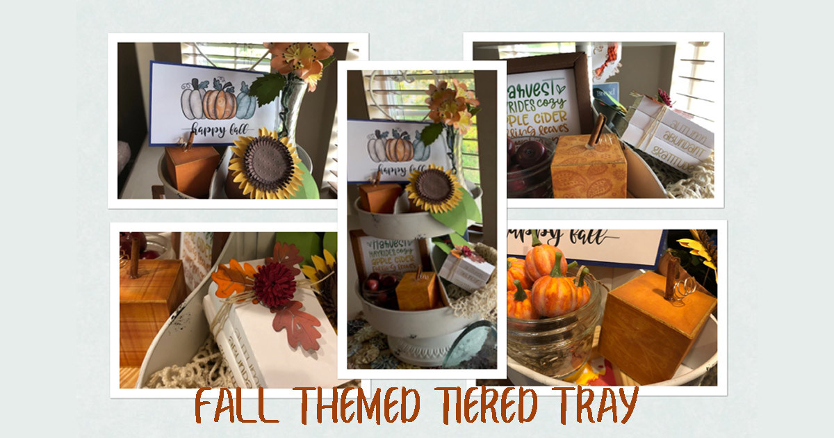 Create a Fall Tiered Tray with Creative Fabrica