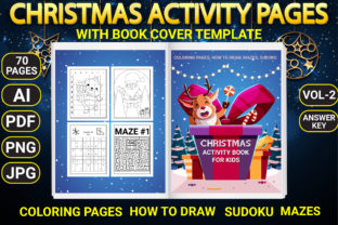 Print on Demand: Christmas Activity Pages with Book Cover Graphic Coloring Pages & Books Kids By Simran Store