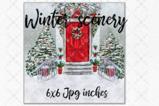 Print on Demand: Christmas Couples  Clipart Xmas Scenery Graphic Illustrations By LeCoqDesign 4