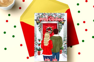Print on Demand: Christmas Couples  Clipart Xmas Scenery Graphic Illustrations By LeCoqDesign 5