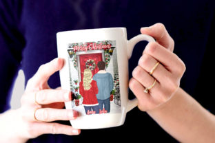Print on Demand: Christmas Couples  Clipart Xmas Scenery Graphic Illustrations By LeCoqDesign 7