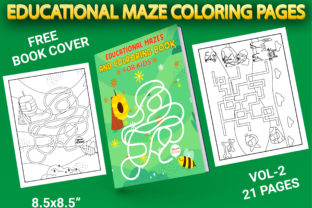Print on Demand: Educational Maze Game with Book Cover Graphic Coloring Pages & Books Kids By Simran Store