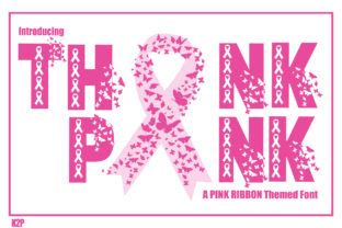 Print on Demand: Think Pink Decorative Font By KtwoP