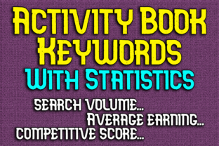Print on Demand: Activity Book Keywords with Statistics Graphic KDP Keywords By Mary's Designs
