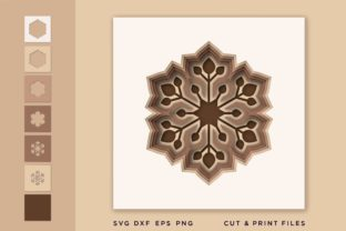 Christmas Snowflake Svg, Snowflake 3d Graphic 3D SVG By 2dooart