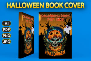 Print on Demand: Halloween Coloring Book Cover Graphic Coloring Pages & Books Kids By Simran Store