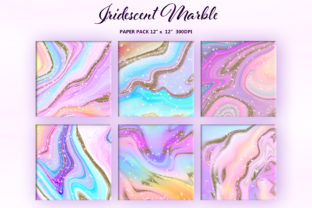Iridescent Marble and Gold Glitter - 2