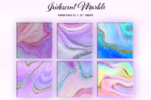 Iridescent Marble and Gold Glitter - 3