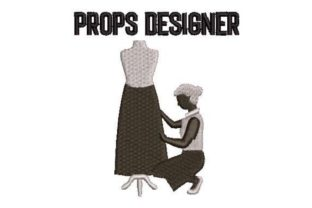 Props Designer Work & Occupation Embroidery Design By Embroidery Designs