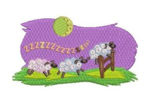 Sheep Jumping over a Fence Farm Animals Embroidery Design By Embroidery Designs