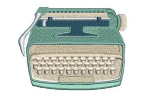Vintage Typewriter in Color Hobbies & Sports Embroidery Design By Embroidery Designs