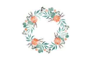 Foliage Wreath Watercolor Nature & Outdoors Craft Cut File By Creative Fabrica Crafts
