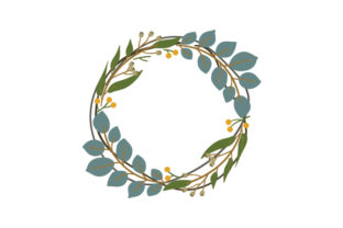 Country-style Wreath Nature & Outdoors Craft Cut File By Creative Fabrica Crafts