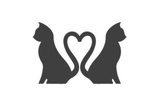 Cats with Tails Forming a Heart Cats Craft Cut File By Creative Fabrica Crafts