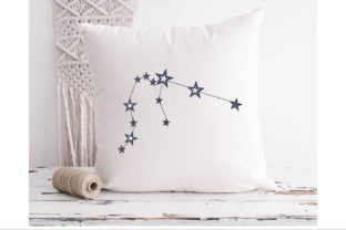 Aquarius Sign Constellation Inspirational Embroidery Design By ArtDigitalEmbroidery 3